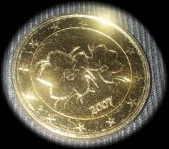 Vergoldete 2 Euro Muenze 2 Euro Münzen Münz Board